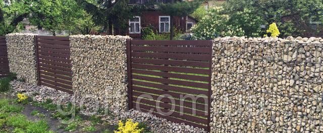 забор из сварной сетки - габион в сборе