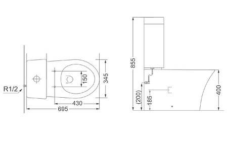Компакт + кришка UF5170S (soft-close) 3010129 GREDOS Devit, фото 2