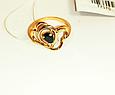 Золотое кольцо с черным фианитом Феличита, фото 2