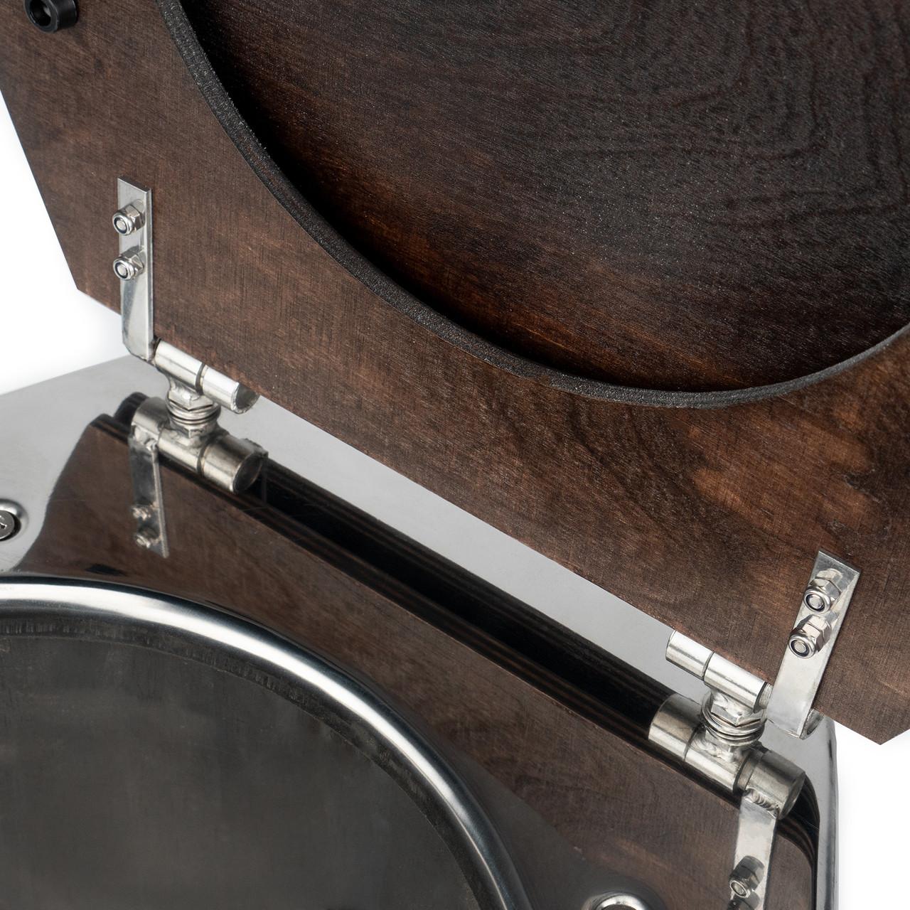 Унитаз нержавеющий для дачи (высокий, H=400 мм) - фото 6