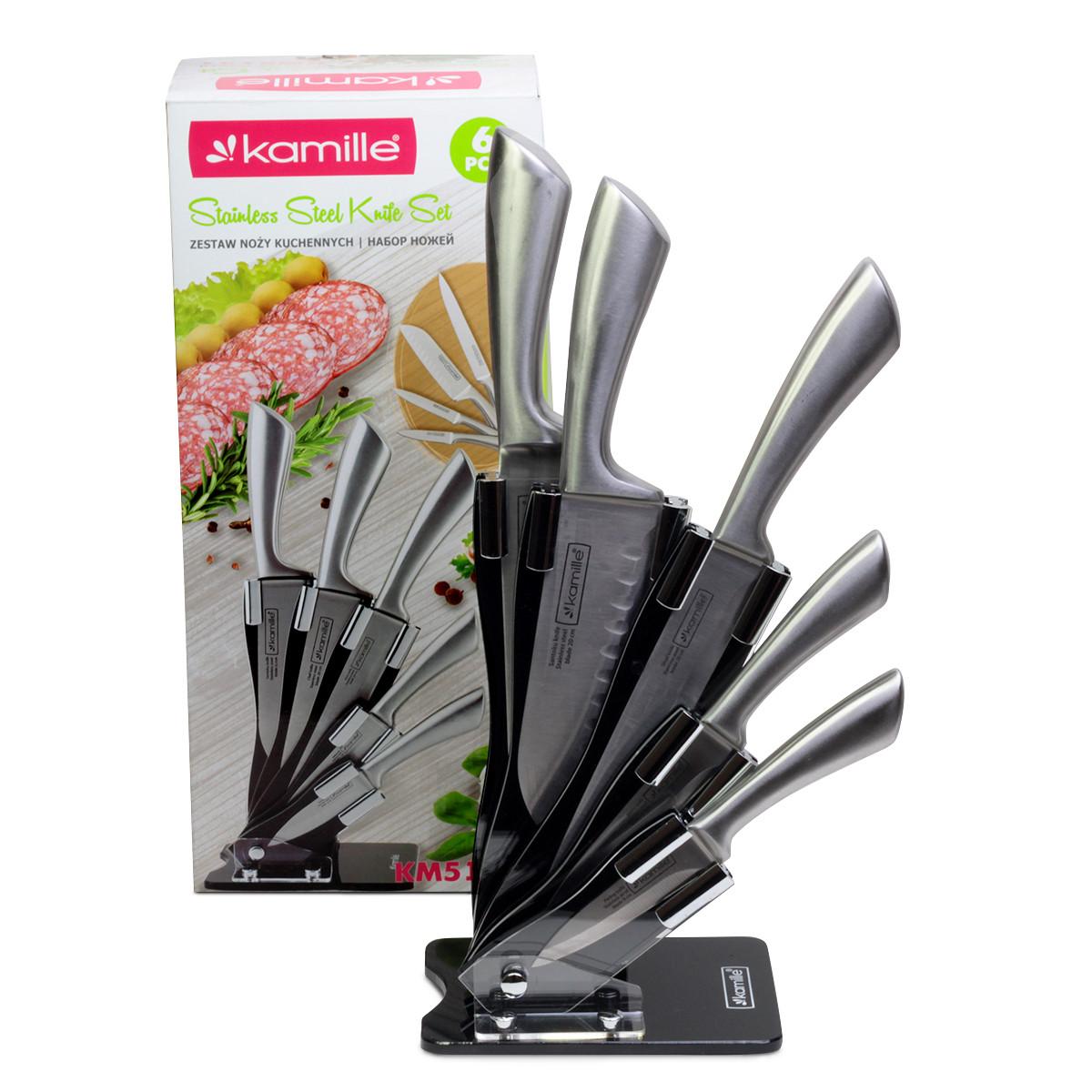Набор ножей Kamille 6 предметов из нержавеющей стали KM-5131