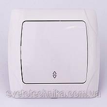 Выключатель одноклавишный перекрестный VI-KO Carmen скрытой установки (белый)