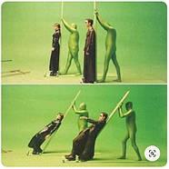 1,35х10м Фон паперовий ХРОМАКЕЙ зелений у рулоні Visico Chroma Green, фото 3