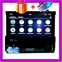 """Автомагнитола 1DIN DVD-9501 Android 5.1 GPS с выезжающим экраном диагональю 7"""" дюймов 1024 x 600"""