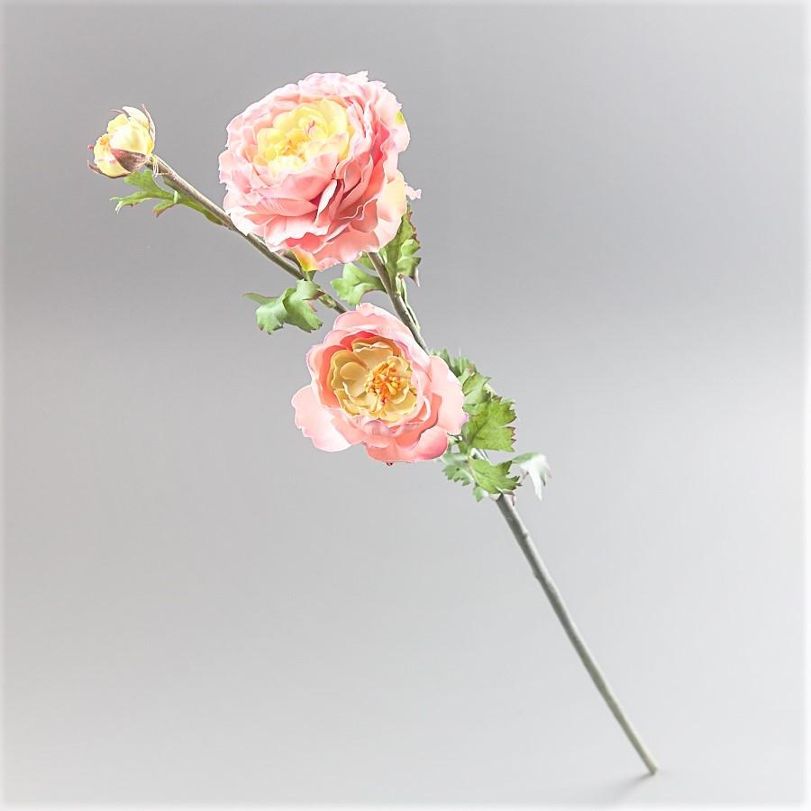 Ранункулюс искусственный 73 см нежно розовый