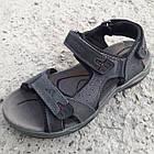 Сандалии мужские кожаные р.41 серые Adidas, фото 2