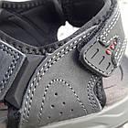 Сандалии мужские кожаные р.41 серые Adidas, фото 5