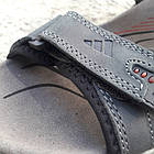 Сандалии мужские кожаные р.41 серые Adidas, фото 7