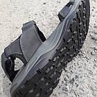 Сандалии мужские кожаные р.41 серые Adidas, фото 8