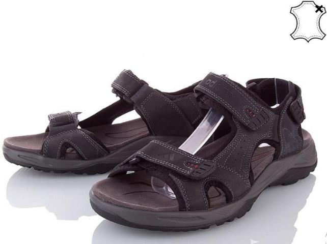 Сандалии мужские кожаные р.41 серые Adidas