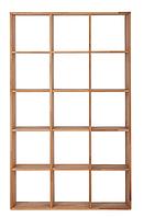 """Деревянный стеллаж для книг """"Куб"""" в гостиную 3х5"""