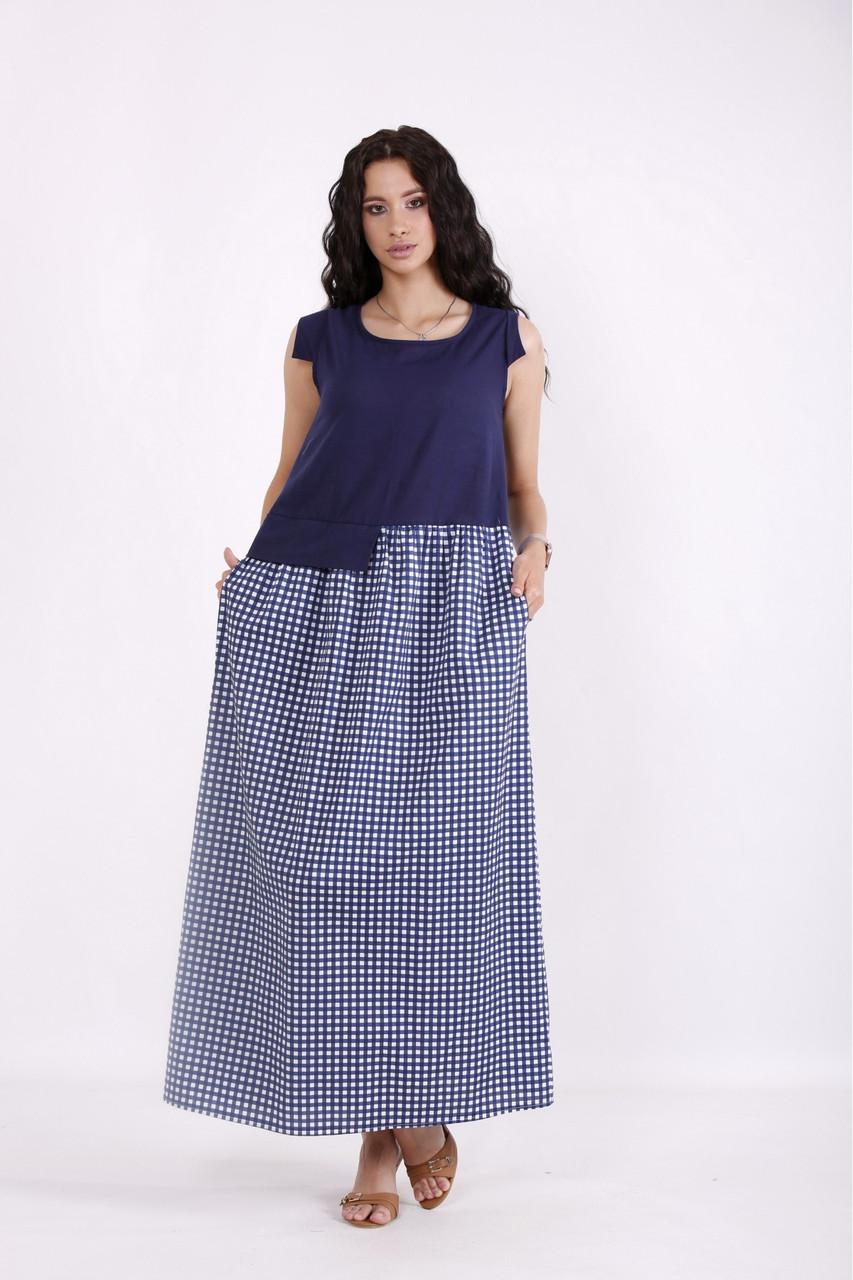 Сукня жіноча літнє довге розміри:42-74
