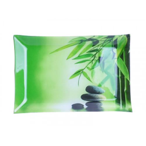 Блюдо прямокутне S&T Зелений бамбук 25*15 см 381
