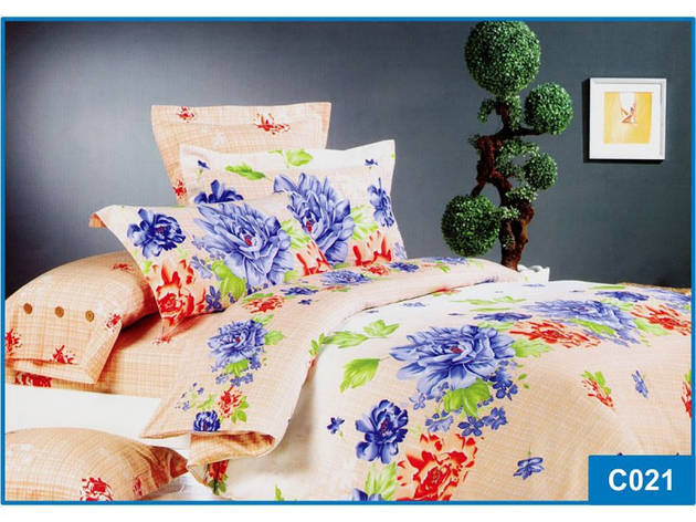Комплект постільної білизни Leleka-textile полуторний сатин арт.З-021, фото 2