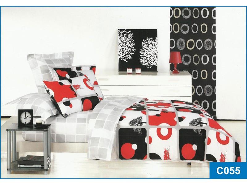 Комплект постільної білизни Leleka-textile сімейний сатин арт.З-055