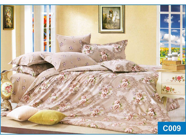 Комплект постільної білизни Leleka-textile сімейний сатин арт.З-09, фото 2