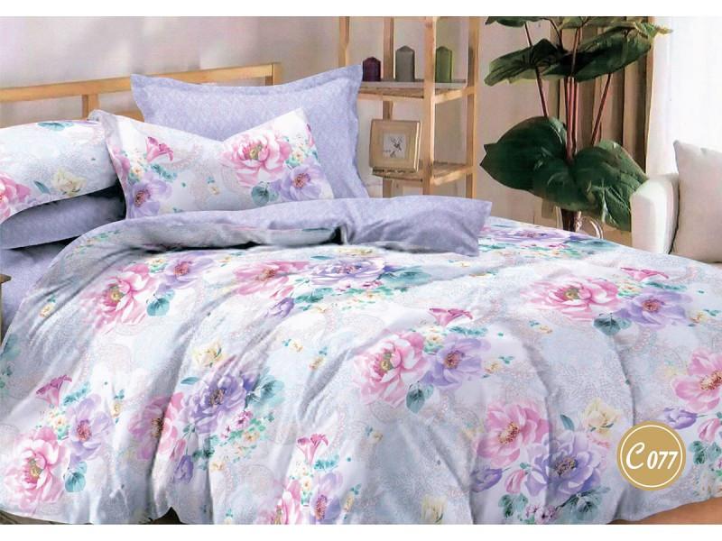 Комплект постільної білизни Leleka-textile Євро сатин арт.З-077