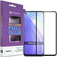 Защитное стекло MakeFuture Full Cover Full Glue Realme 6 Black (MGF-R6)