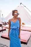 Платье женское летнее в горошек с разрезом 42-44, 44-46, фото 2