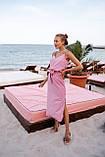 Платье женское летнее в горошек с разрезом 42-44, 44-46, фото 6