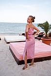 Платье женское летнее в горошек с разрезом 42-44, 44-46, фото 5