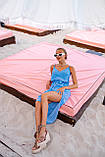 Платье женское летнее в горошек с разрезом 42-44, 44-46, фото 4