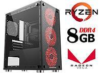 Персональный игровой компьютер ZEN / 4ядра * 4.0GHz / 8Gb_DDR4 / 500Gb / Radeon_Vega8_DDR4