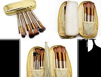 Кисти для макияжа 12 штук в чехле GOLD Набор кистей NAKED