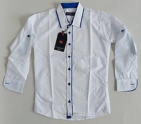 Детская белая рубашка с длинными рукавами ( с 2 до 16 лет)