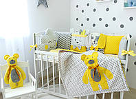 "Бортики защита в кроватку ""Yellow teddy"" 2305"