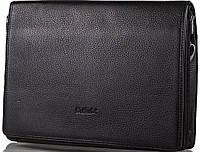 Удобная мужская кожаная сумка-почтальонка с отделением для ноутбука ROCKFELD (РОКФЕЛД) DS20-020658