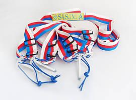 Разметка площадки пляжного волейбола «ТРАНСФОРМЕР» красно-бело-синяя