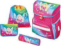 Ранец Herlitz Loop Rainbow Fairy с девочкой феей 50013845 с наполнением (2 пенала, сумка для сменной обуви))