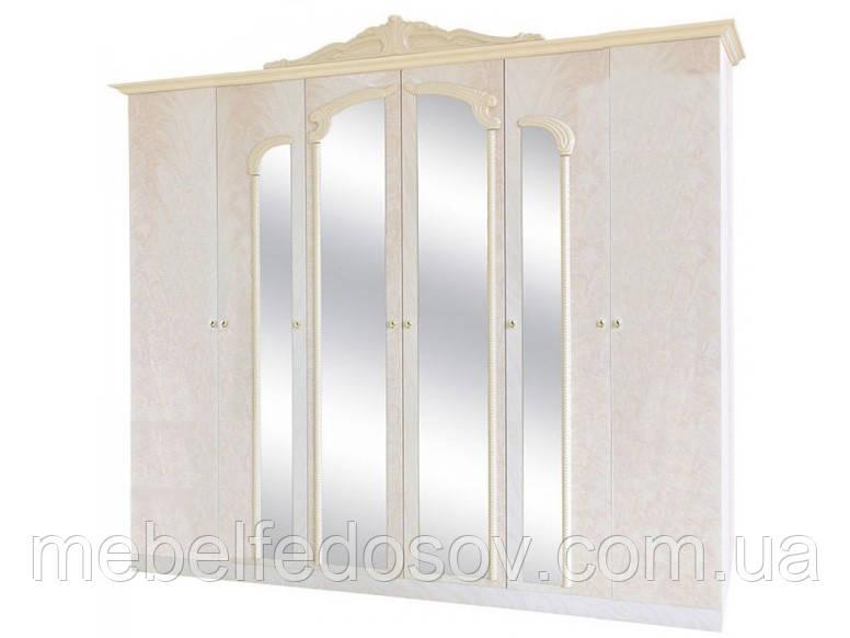 Шкаф 6Д Империя  (Світ мебелів) роза лак