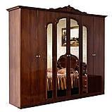 Шкаф 6Д Империя  (Світ мебелів) роза лак, фото 6