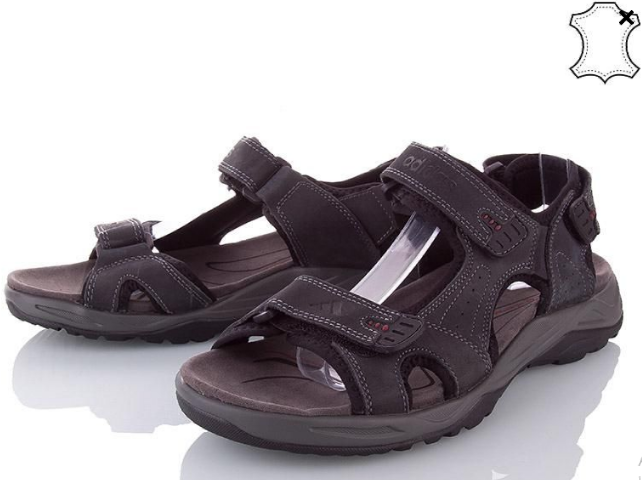 Сандалии мужские кожаные р.43 серые Adidas