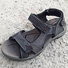 Сандалии мужские кожаные р.43 серые Adidas, фото 2