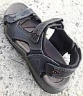 Сандалии мужские кожаные р.43 серые Adidas, фото 4