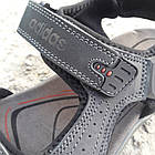 Сандалии мужские кожаные р.43 серые Adidas, фото 6