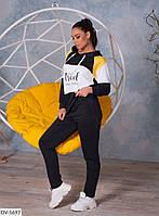 Стильный женский спортивный костюм с свитшотом размеры 48-62 арт 816