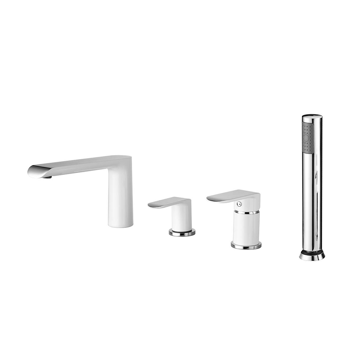 Змішувач для ванни врізний (на 4 відчини) хром/білий 43128141W IVEN Devit