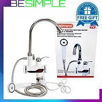 Проточный водонагреватель с душем Delimano (подключение снизу) + Нож в Подарок!