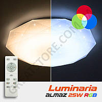 Потолочный светодиодный светильник LUMINARIA ALMAZ 25W RGB R-330-SHINY-220V-IP20 с пультом ДУ