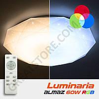 Потолочный светодиодный светильник LUMINARIA ALMAZ 60W RGB R-500-SHINY-220V-IP20 с пультом ДУ