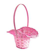 Кошик для квітів світло-рожева 29х22см