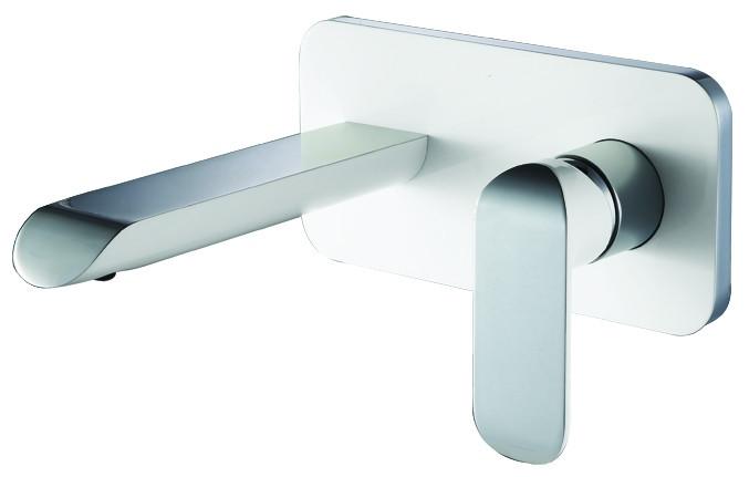 Змішувач для раковини зі стіни з донним клапаном, хром/білий  4311X141W IVEN  Devit