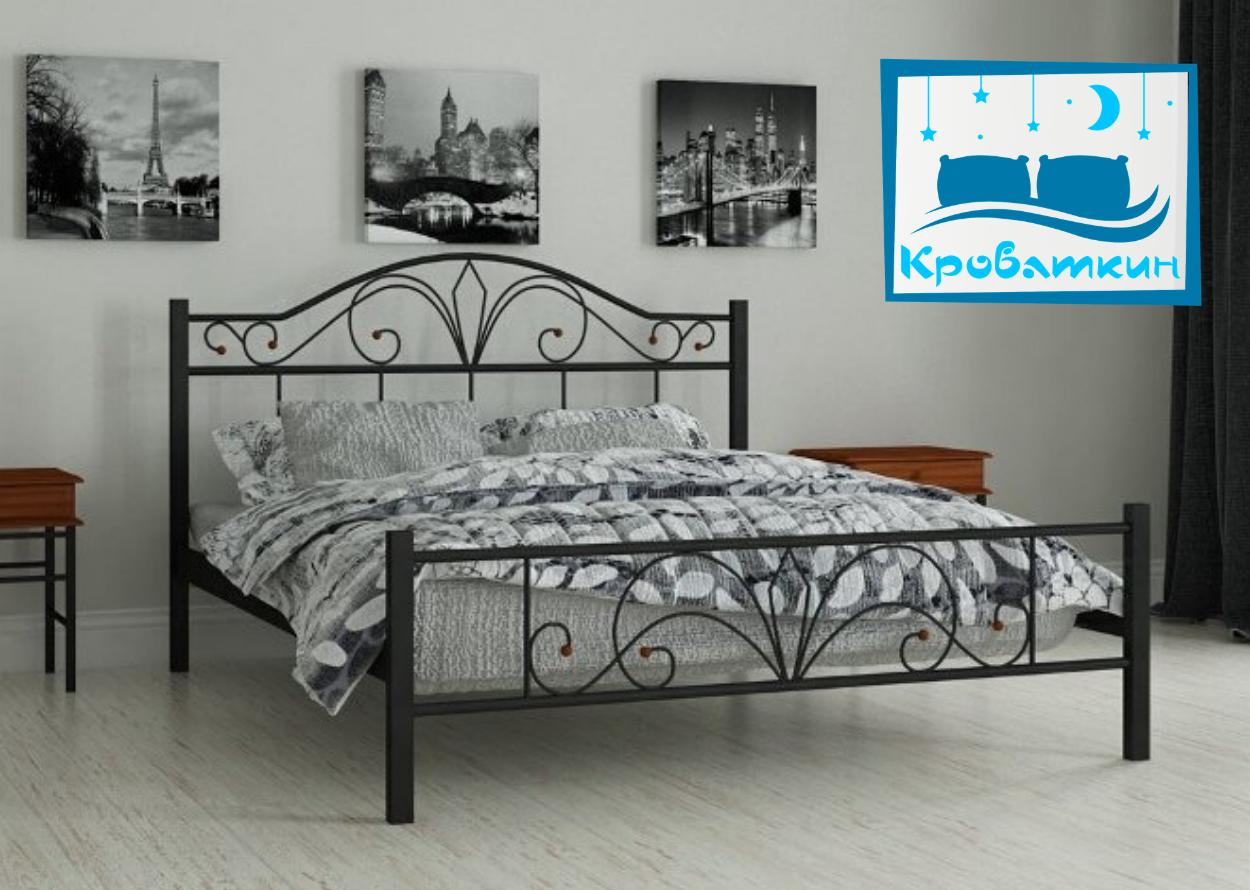 Металлическая кровать Элиз 80х190см Мадера
