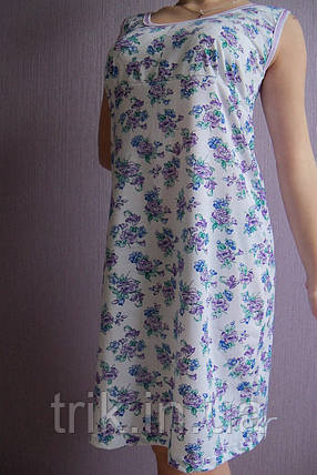 Женская ночная рубашка Любушка расцветка пионы, фото 2