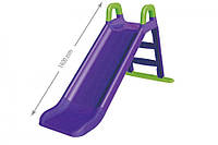 Гірка для катання дітей (фіолетова з зеленими вставками) 140 см 0140/10 DOLONI