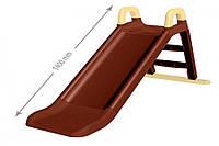 Гірка для катання дітей (коричнева з бежевими вставками) 140 см 0140/09 DOLONI
